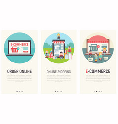 mobile shopping apps vector image