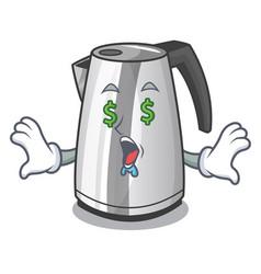 Money eye mascot cartoon household kitchen vector