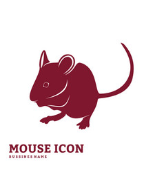 Mouse design silhouette mouse vector