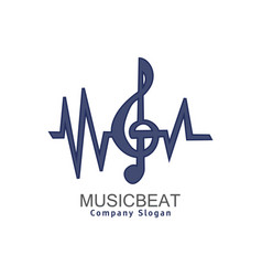 music beat vector image