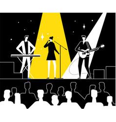 music festival - flat design style vector image