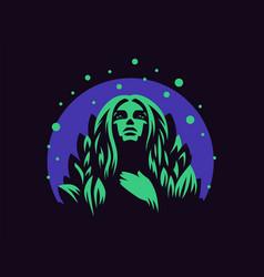Nymph emblem vector