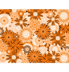 Orange flowers vector