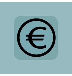 Pale blue euro sign vector image