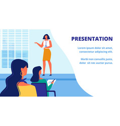 presentation new woman training teacher audience vector image