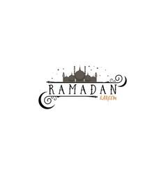 ramadan kareem mubarak banner for postcards and vector image