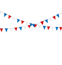russian flag festive bunting against party vector image