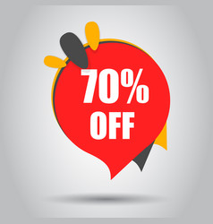 sale 70 off discount price tag icon business vector image