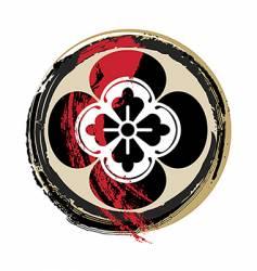 Samurai crest vector