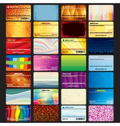 Set of Abstract Business Cards vector