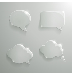 Set of realistic glass speech bubbles vector
