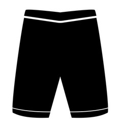 shorts the black color icon vector image