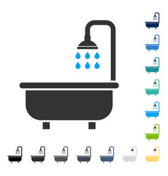 Shower bath icon vector