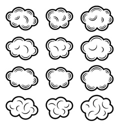 sky cloud black symbols vector image