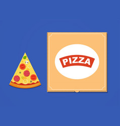 slice pizza with sausage tomatoes mushrooms vector image
