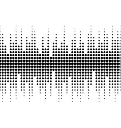 Sound waves seamless pattern different sized dots vector