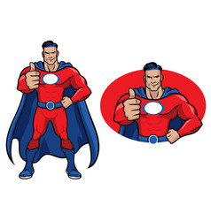 superhero thumb up vector image