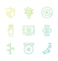 Surveillance cameras vector image