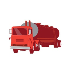 Tanker Cement Truck Retro vector