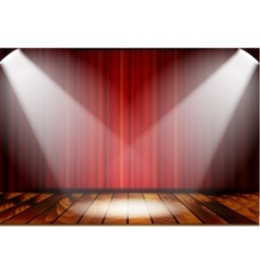 Theatrical scene with red curtains vector image