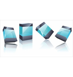 transparent glass boxes vector image