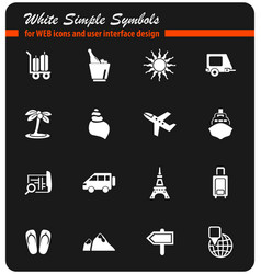 Travel icon set vector