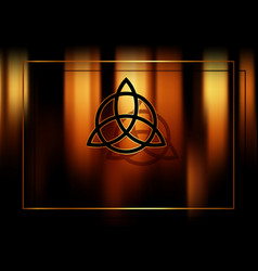 triquetra trinity knot wiccan symbol esoteric vector image