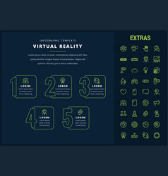 virtual reality infographic template and elements vector image