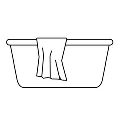 Wash basin icon outline style vector
