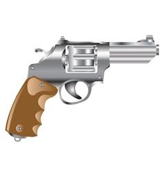 Weapon revolver vector