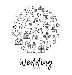 Wedding round concept vector