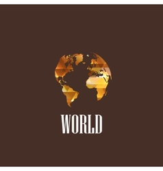 with diamond world icon vector image