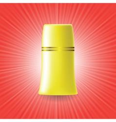Yellow tube vector