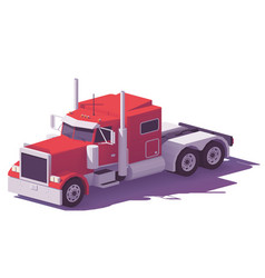 low poly american classic truck vector image vector image