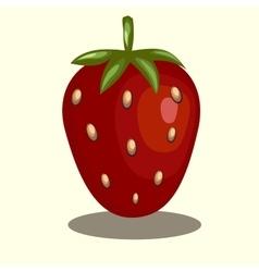 original trendy strawberry vector image