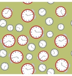 Seamless pattern with watches 575 vector image