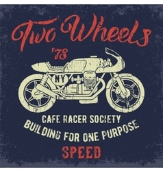 Cafe racer print design vector