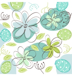 floral easter card vector image vector image
