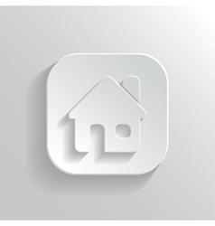 Home icon - white app button vector image vector image