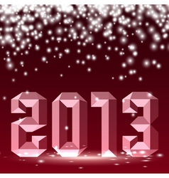 New 2013 year 3D figures with lights vector image