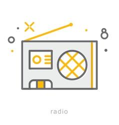 Thin line icons Radio vector image vector image