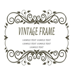 Vintage frame with curlicues and swirls vector image
