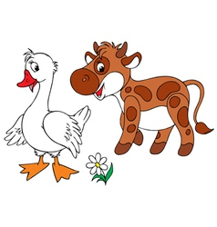 Goose and calf vector