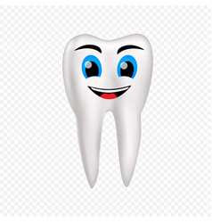 smile healthy tooth vector image vector image