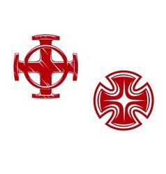 Stylized crosses vector image