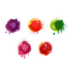 watercolor background watercolor splashes vector image vector image