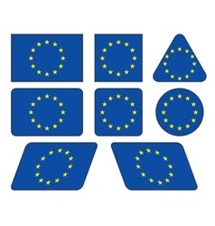 flag of European Union vector image vector image