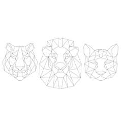 Front view of animal head triangular icon vector image