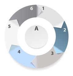 infograpic wheel vector image vector image