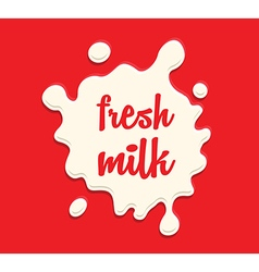 milk splodge red background vector image